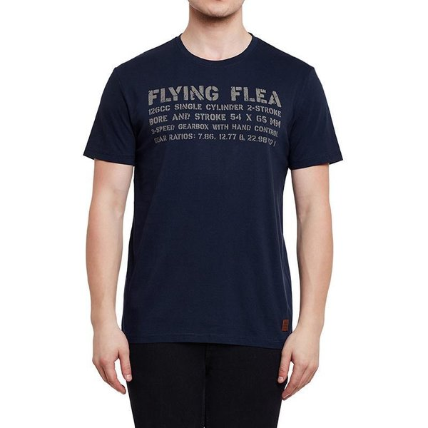 T-SHIRT FLYING FLEA LEGEND NAVY BLEU ROYAL ENFIELD