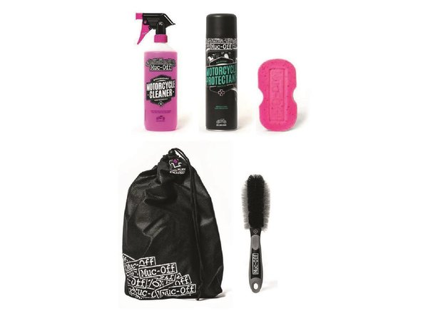 Kit entretien MOTO MUC-OFF Motorcycle Essentials Kit